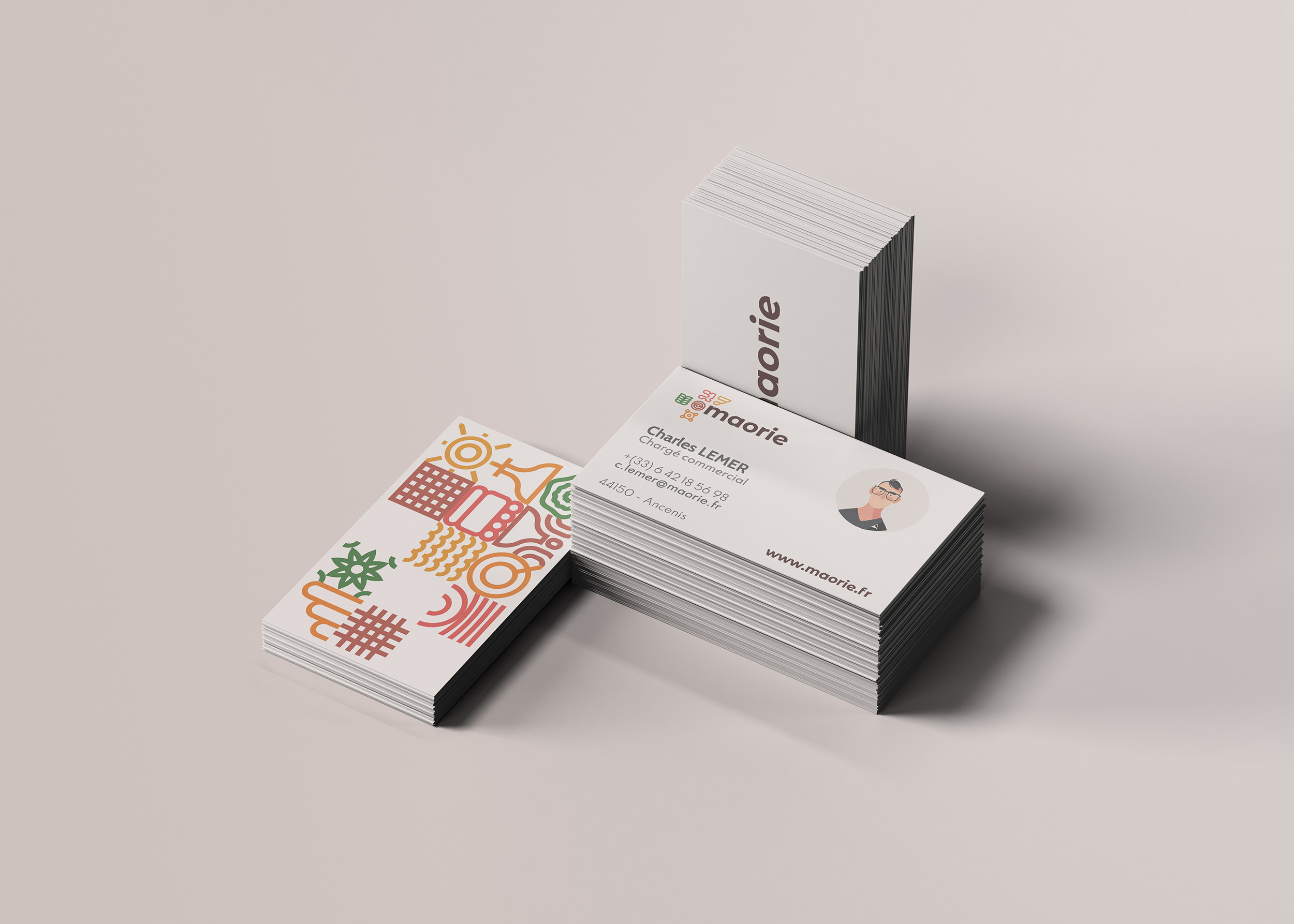 cartes de visite, papeterie, identité visuelle