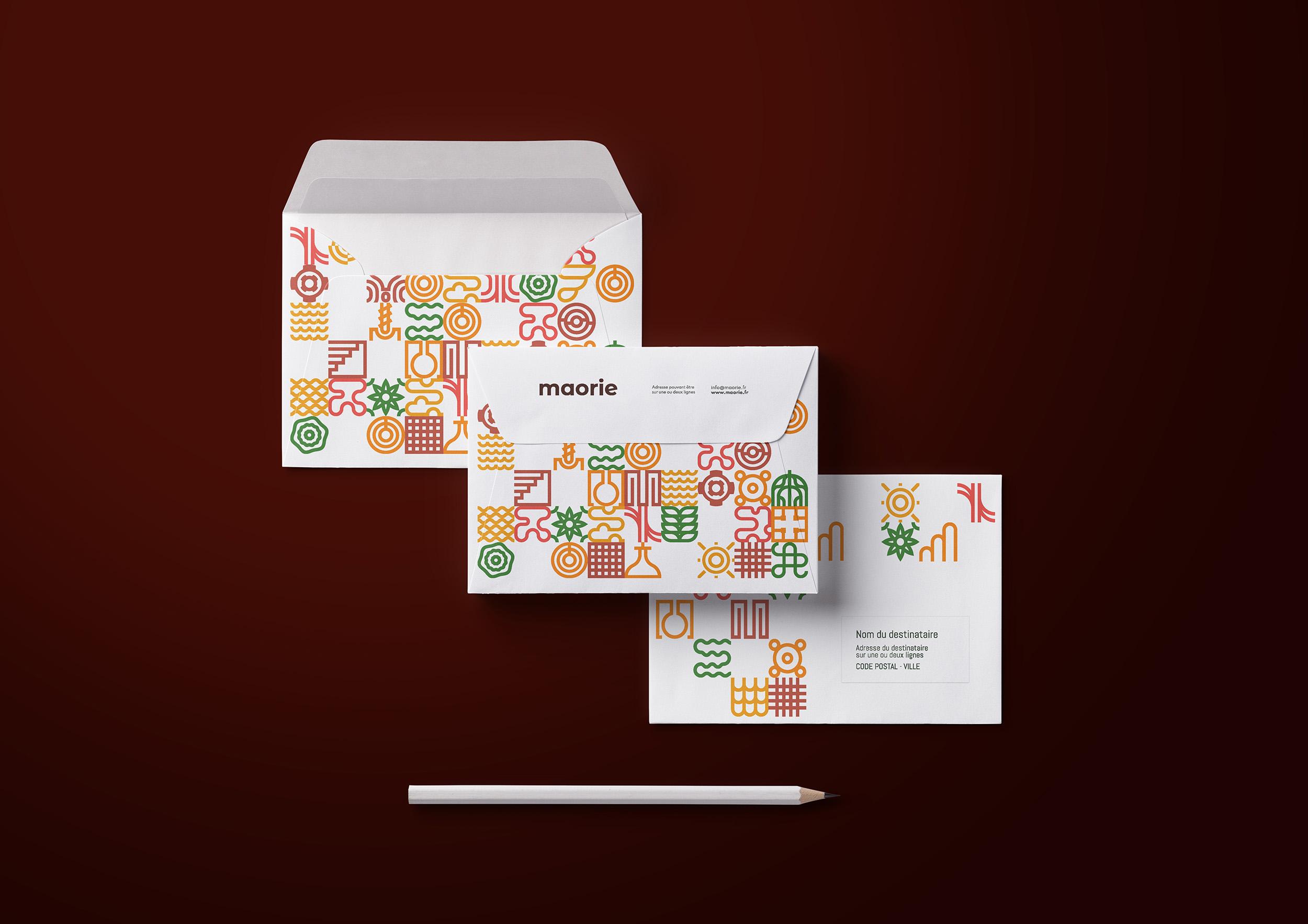 enveloppe, invitation, identité visuelle, symboles, papeterie