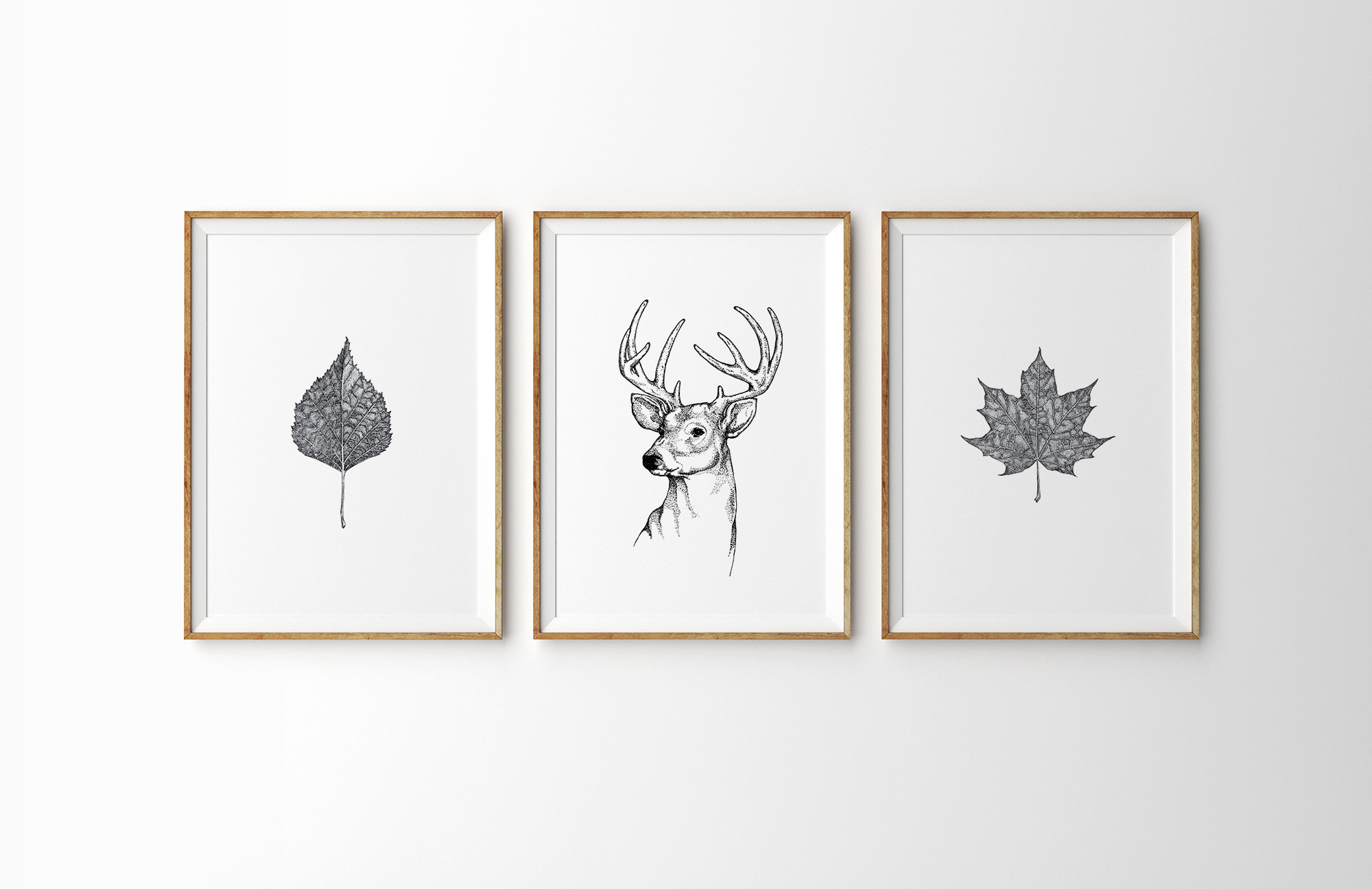 AFFICHE-DECORATION-POSTER-MUR-DESIGN-ILLUSTRATION-NATURE-FEUILLE
