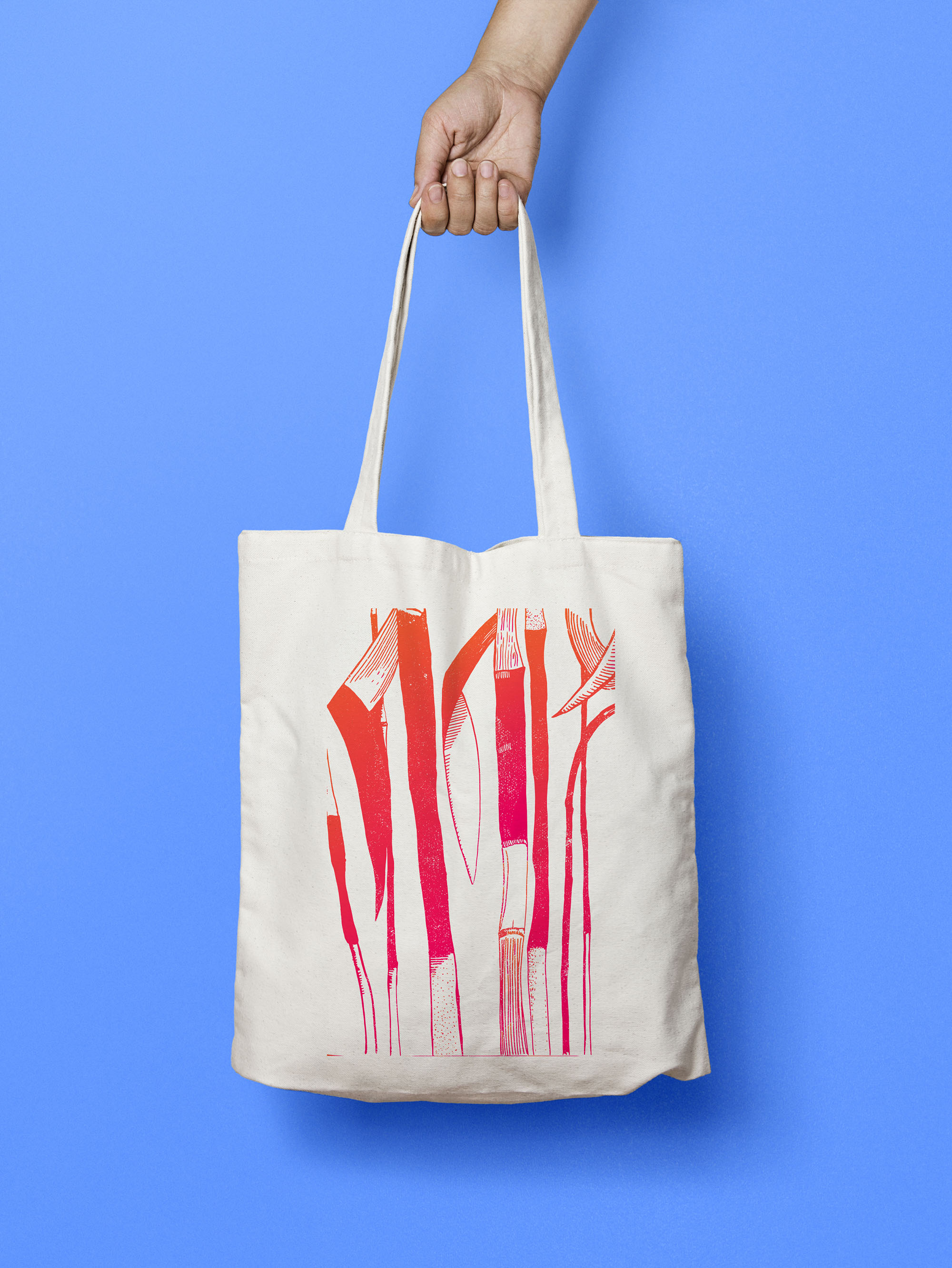 left TOTE-BAG-FESTIVAL-ILLUSTRATION-HANDMADE